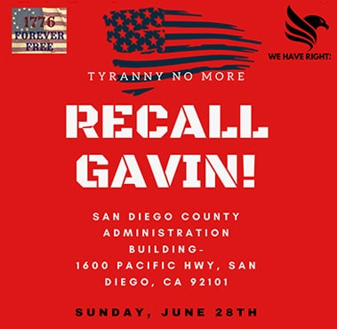 Recall Gavin event in San Diego